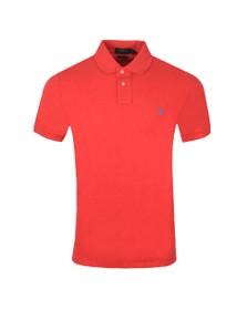 Polo Ralph Lauren Mens Red Custom Slim Fit Short Sleeve Polo Shirt