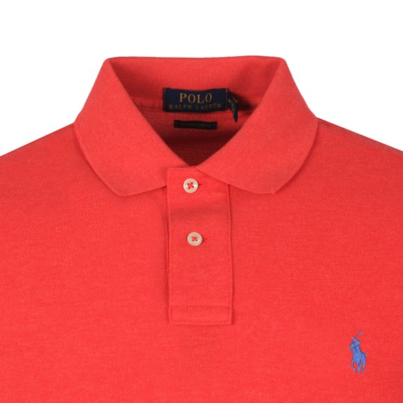 Polo Ralph Lauren Mens Red Custom Slim Fit Short Sleeve Polo Shirt