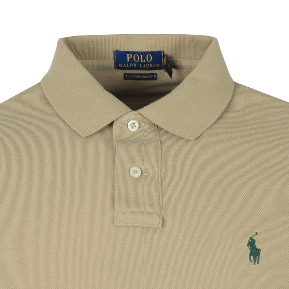 Polo Ralph Lauren Mens Green Custom Slim Fit Short Sleeve Polo Shirt