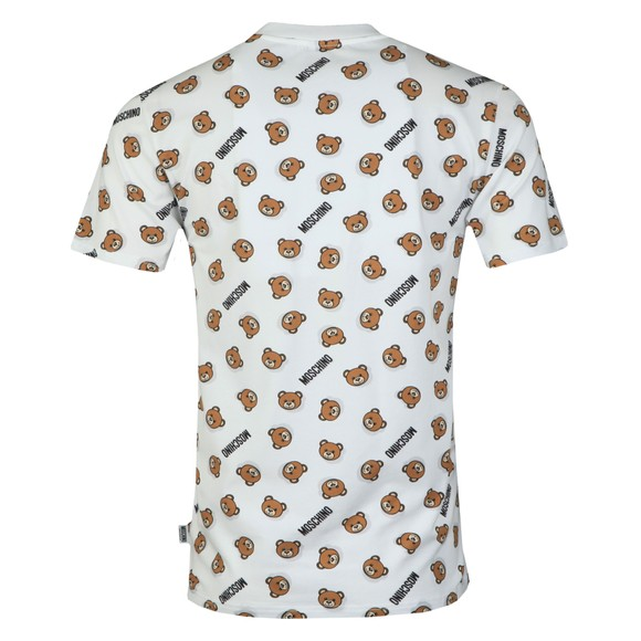 Moschino Mens White Underbear Allover T Shirt main image