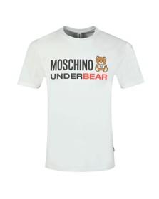 Moschino Mens White Underbear T Shirt