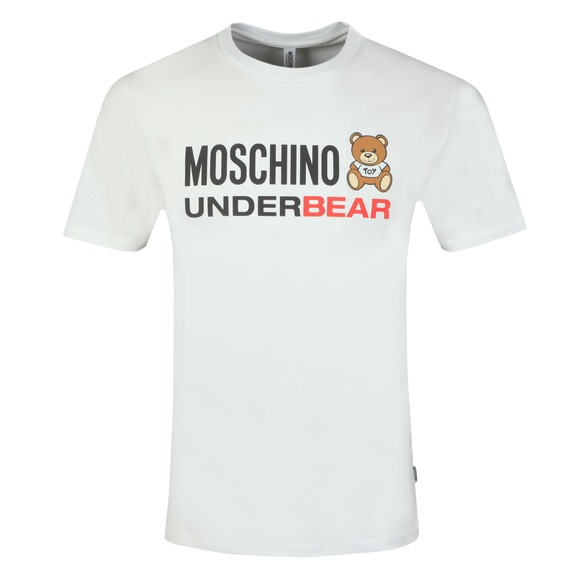Moschino Mens White Underbear T Shirt