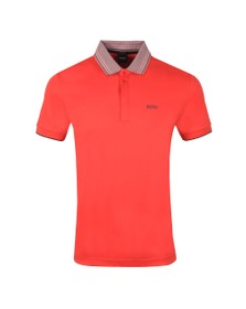 BOSS Mens Red Athleisure Paddy 1 Polo Shirt
