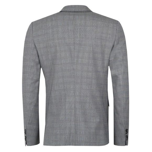 HUGO Mens Grey Astian184 Check Blazer