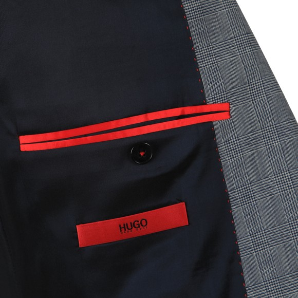 HUGO Mens Grey Astian184 Check Blazer main image