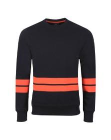 PS Paul Smith Mens Blue Broad Stripe Sweatshirt