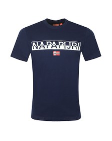 Napapijri Mens Blue Saras Solid T-Shirt