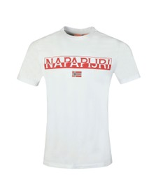 Napapijri Mens White Saras Solid T-Shirt