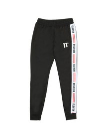Eleven Degrees Mens Black Asymetric Poly Track Pant
