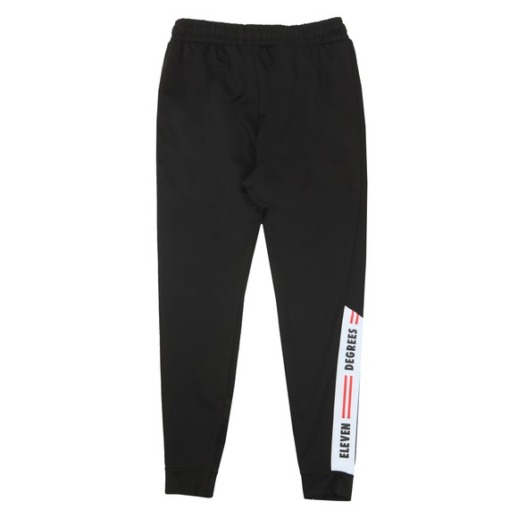 Eleven Degrees Mens Black Asymetric Poly Track Pant main image