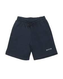 Nicce Mens Blue Logo Sweat Short