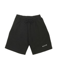 Nicce Mens Black Logo Sweat Short