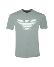 Emporio Armani Mens Green Eagle Script T Shirt