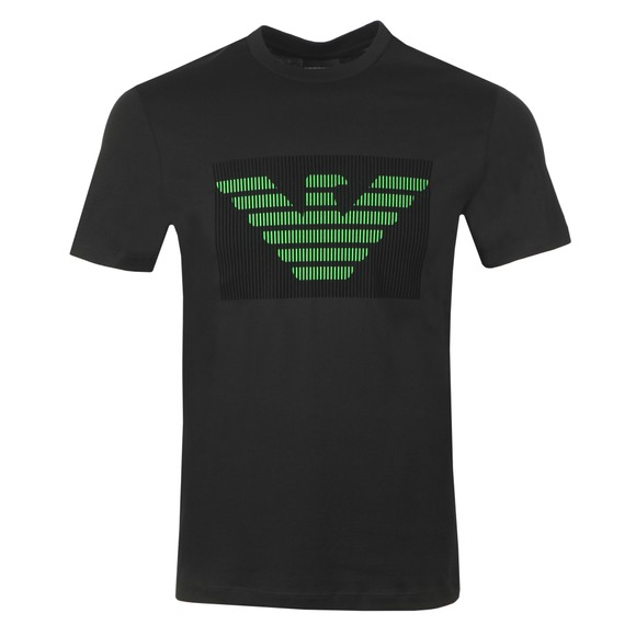 Emporio Armani Mens Black Neon Eagle T Shirt