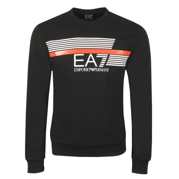EA7 Emporio Armani Mens Black Big Logo Sweatshirt