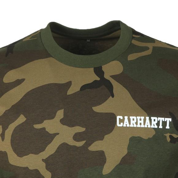 Carhartt WIP Mens Green Carhartt College Script T-Shirt