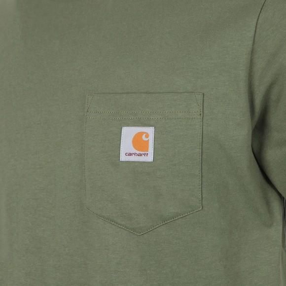 Carhartt WIP Mens Green Pocket Crew T-Shirt main image