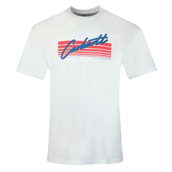 Carhartt WIP Mens White Horizon Script T-Shirt