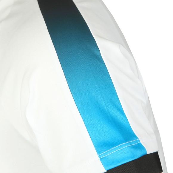 Sik Silk Mens White Inset Cuff Fade Panel Tech T-Shirt main image