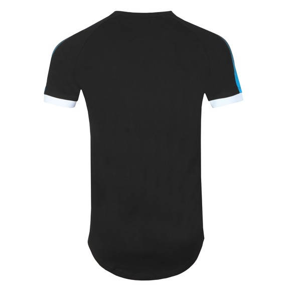 Sik Silk Mens Black Inset Cuff Fade Panel Tech T-Shirt main image
