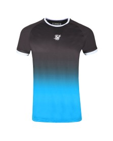 Sik Silk Mens Black Raglan Straight Hem Fade T-Shirt