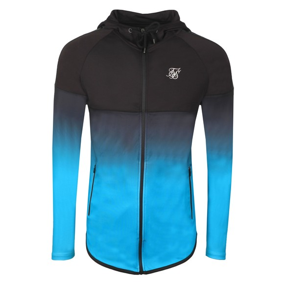Sik Silk Mens Black Athlete Hybrid Zip Through Hoodie