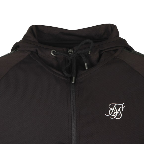 Sik Silk Mens Black Athlete Hybrid Zip Through Hoodie main image