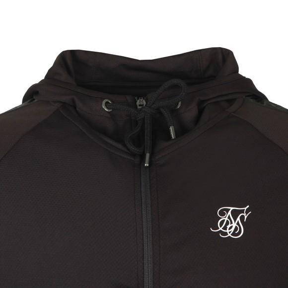 Sik Silk Mens Black Athlete Hybrid Zip Through Hoodie