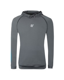 Sik Silk Mens Grey Scope Overhead Fade Panel Hoodie