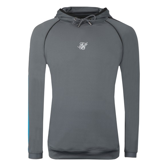 Sik Silk Mens Grey Scope Overhead Fade Panel Hoodie main image