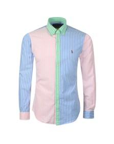 Polo Ralph Lauren Mens Blue Striped Oxford Shirt