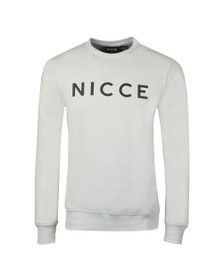 Nicce Mens Grey Crew Neck Sweatshirt