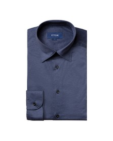 Eton Mens Blue Jersey Shirt