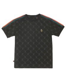 Luke Sport Boys Black Top Irons T-Shirt