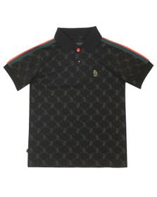 Luke Sport Boys Black Princey Junior Polo Shirt