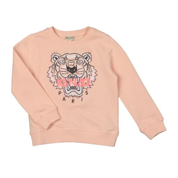 Kenzo Kids Girls Pink Embroidered Tiger Sweatshirt