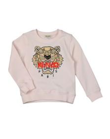 Kenzo Kids Girls Pink/Rose Gold Embroidered Tiger Sweatshirt
