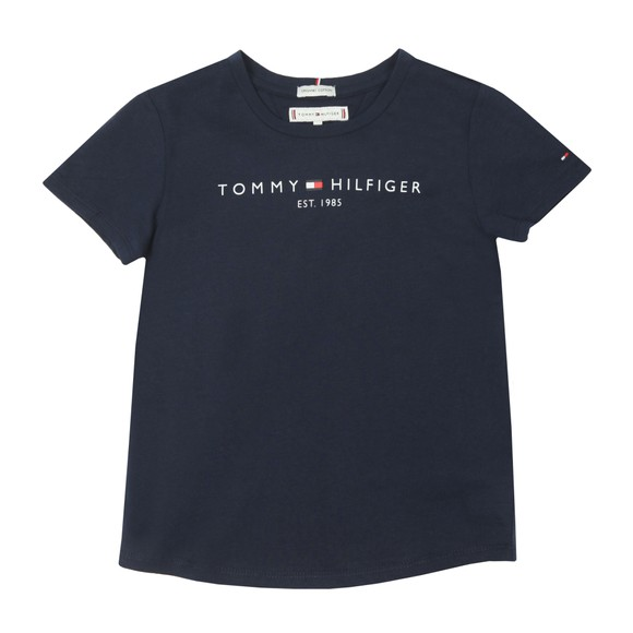 Tommy Hilfiger Kids Girls Blue Essential Logo T Shirt