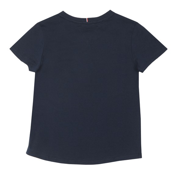 Tommy Hilfiger Kids Girls Blue Essential Logo T-Shirt