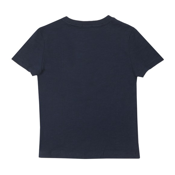 Tommy Hilfiger Kids Boys Blue Essential Curved Logo T Shirt main image