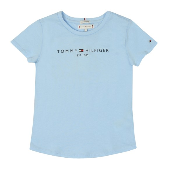 Tommy Hilfiger Kids Girls Calm Blues Essential Logo T-Shirt
