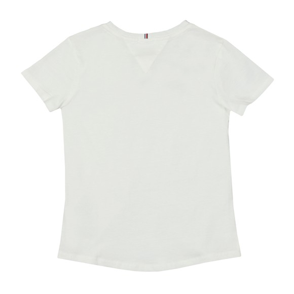 Tommy Hilfiger Kids Girls White Essential Logo T-Shirt