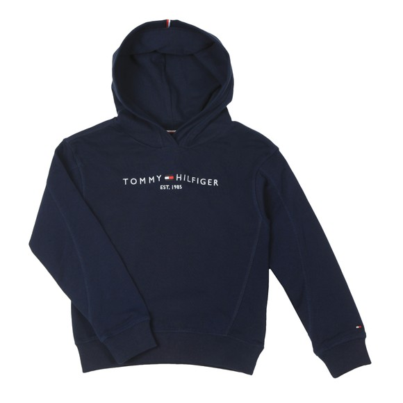 Tommy Hilfiger Kids Girls Blue Essential Overhead Hoody main image
