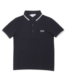 BOSS Boys Blue Boys J25P17 Tipped Polo Shirt