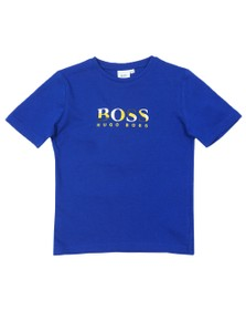 BOSS Boys Blue J25E64 Logo T Shirt