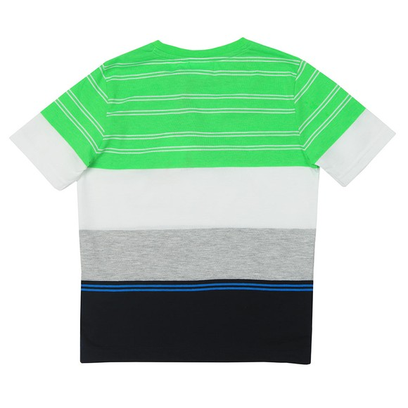 BOSS Boys Green J25E67 Stripe T Shirt