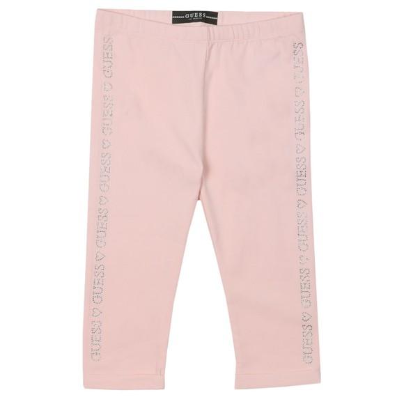 Guess Girls Pink Stud Logo Legging