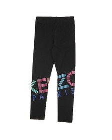 Kenzo Kids Girls Black Large Logo Legging