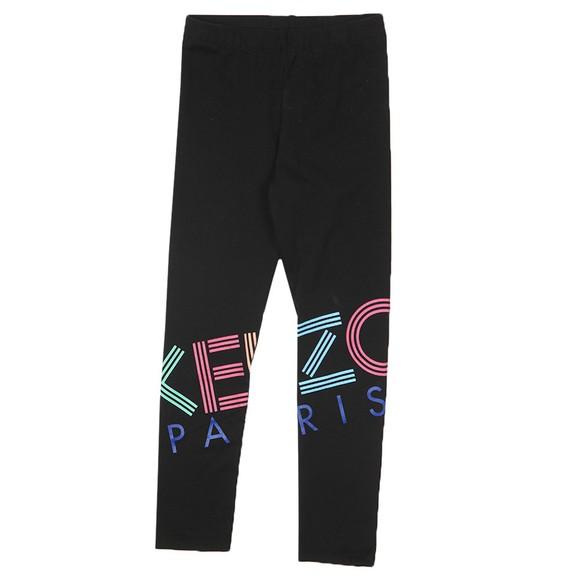 Kenzo Kids Girls Black Large Logo Legging