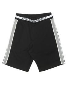 Emporio Armani Boys Black Side Taping Jog Short
